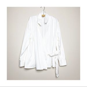 Jessica Plus Crossover Top Blouse Sparkle Buttons